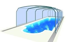 VYSOKÉ bazénové prestrešenia